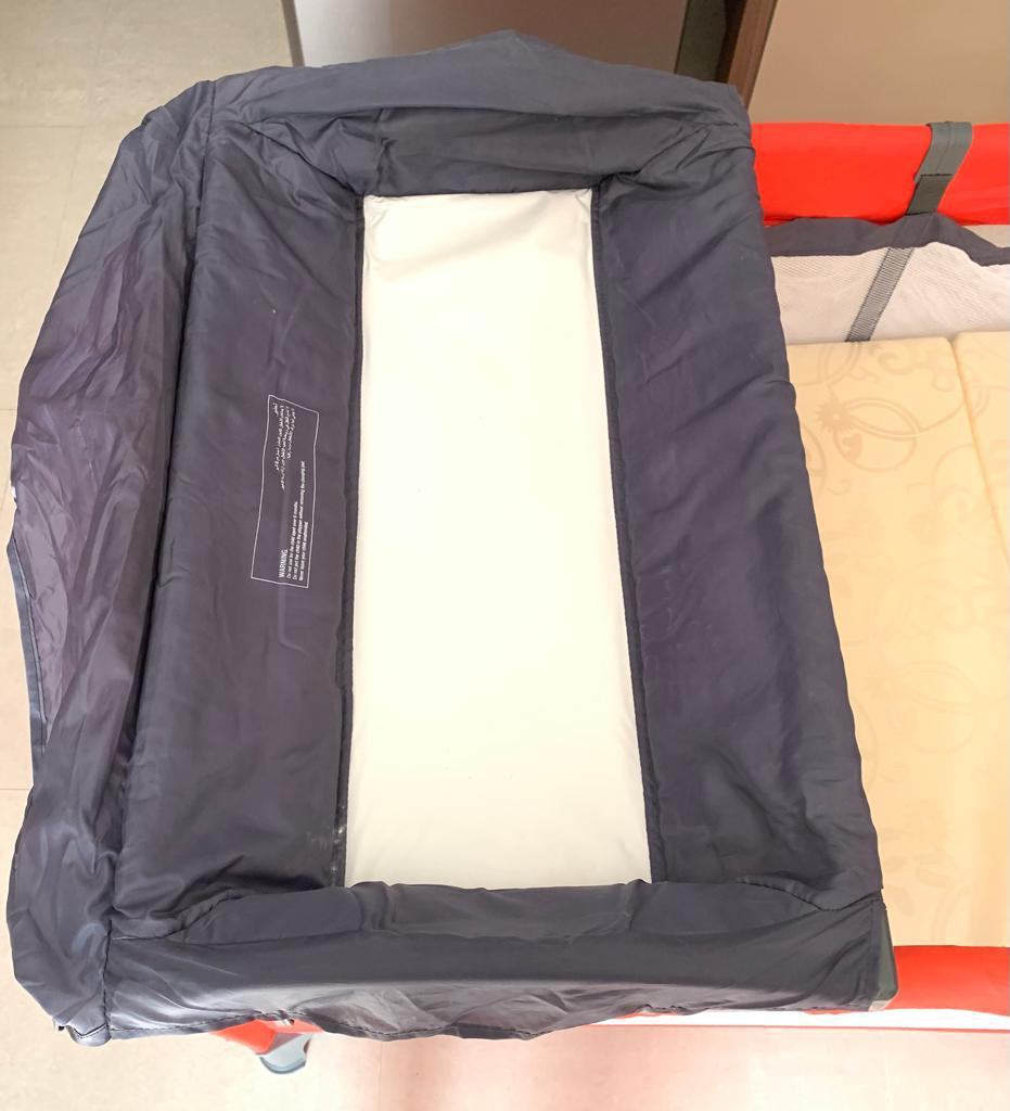 Baby Cot With changing TrayMattress For 120 Qar