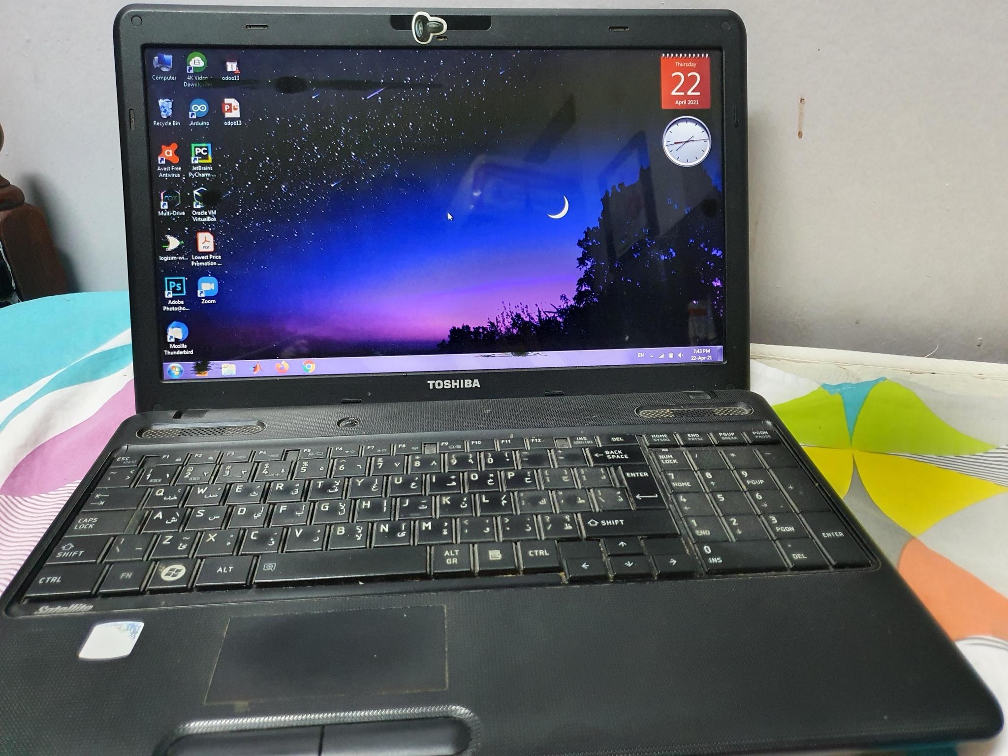 Toshiba Laptop Intel core i3