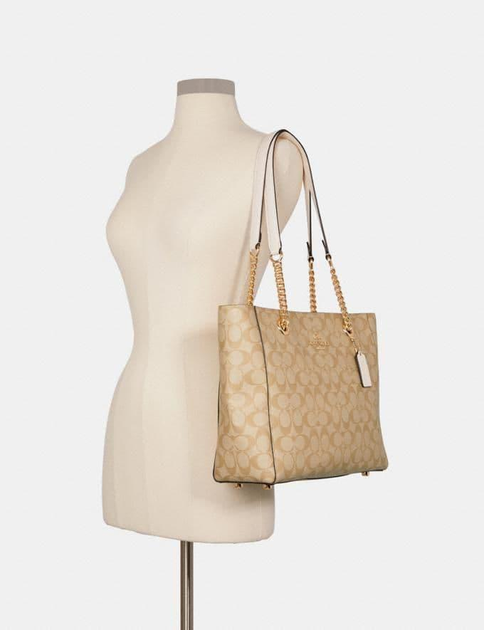 COACH Marlie Tote In Signature Canvas (Price valid