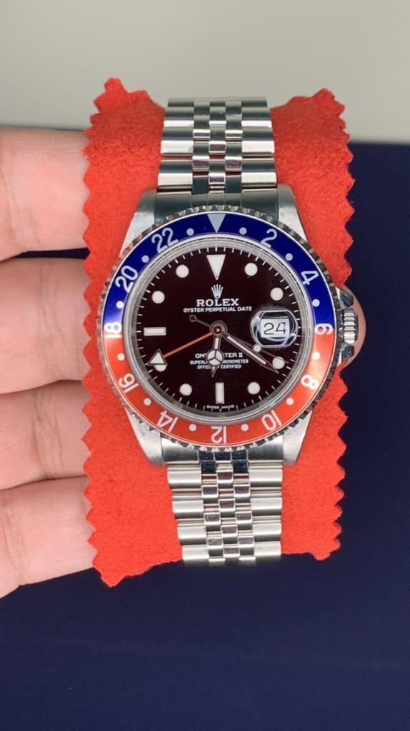 Rolex GMT MAST 2.   16710 Pepsi