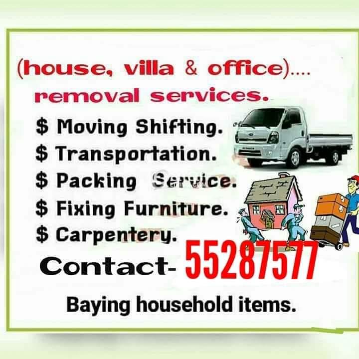 We do less price.....moving shifting carpenter tra