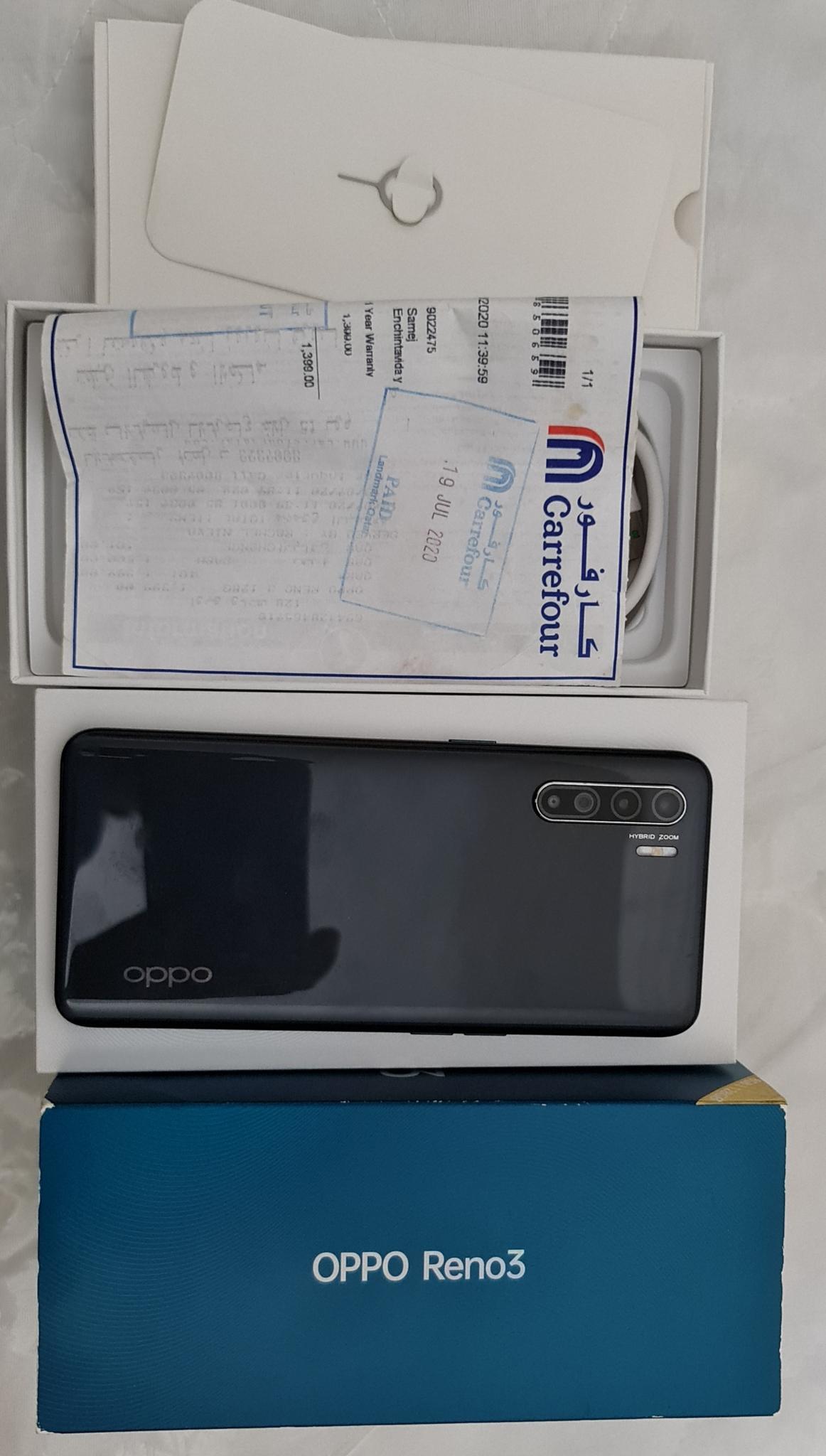 Oppo Reno 3 .  8 GB  128 Store
