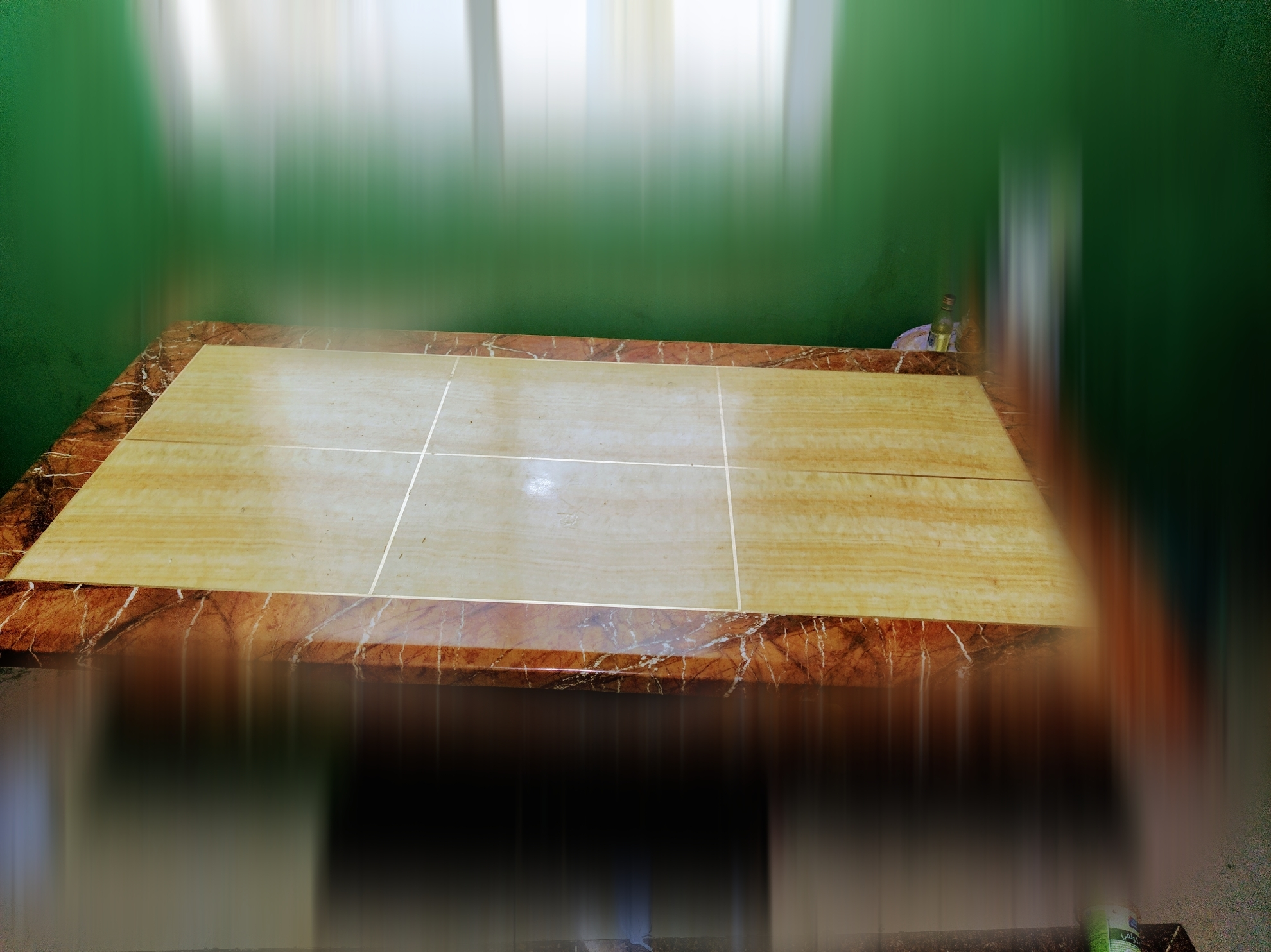 Marble top dining table for sale 150 riyal