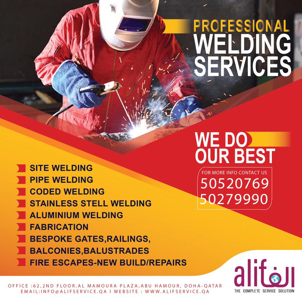 CALL 50520769 |  ALL TYPE OF WELDING SERVICES