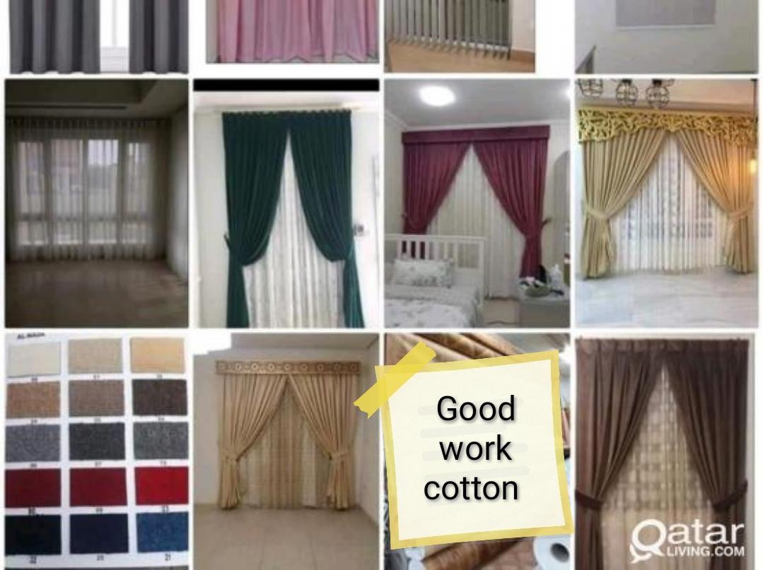 Sofa repairing and curtain installation. Please ca