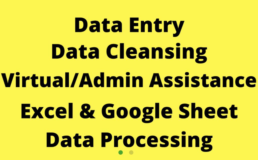 Data Entry Excel And Google Sheet Call 30459608