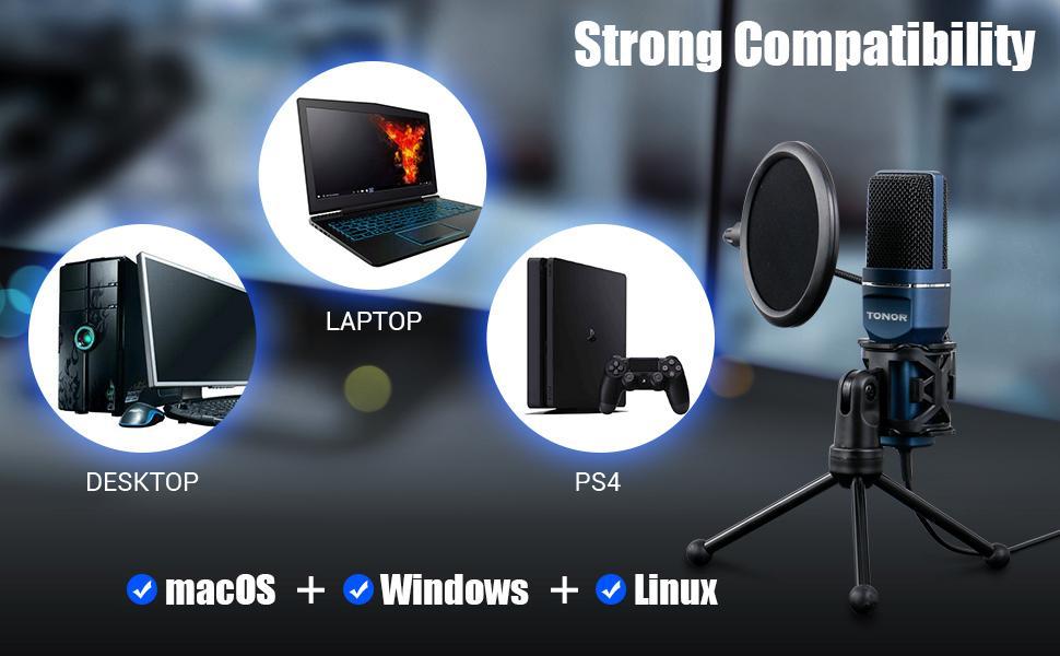 TONOR TC-777 Condenser microphone USB