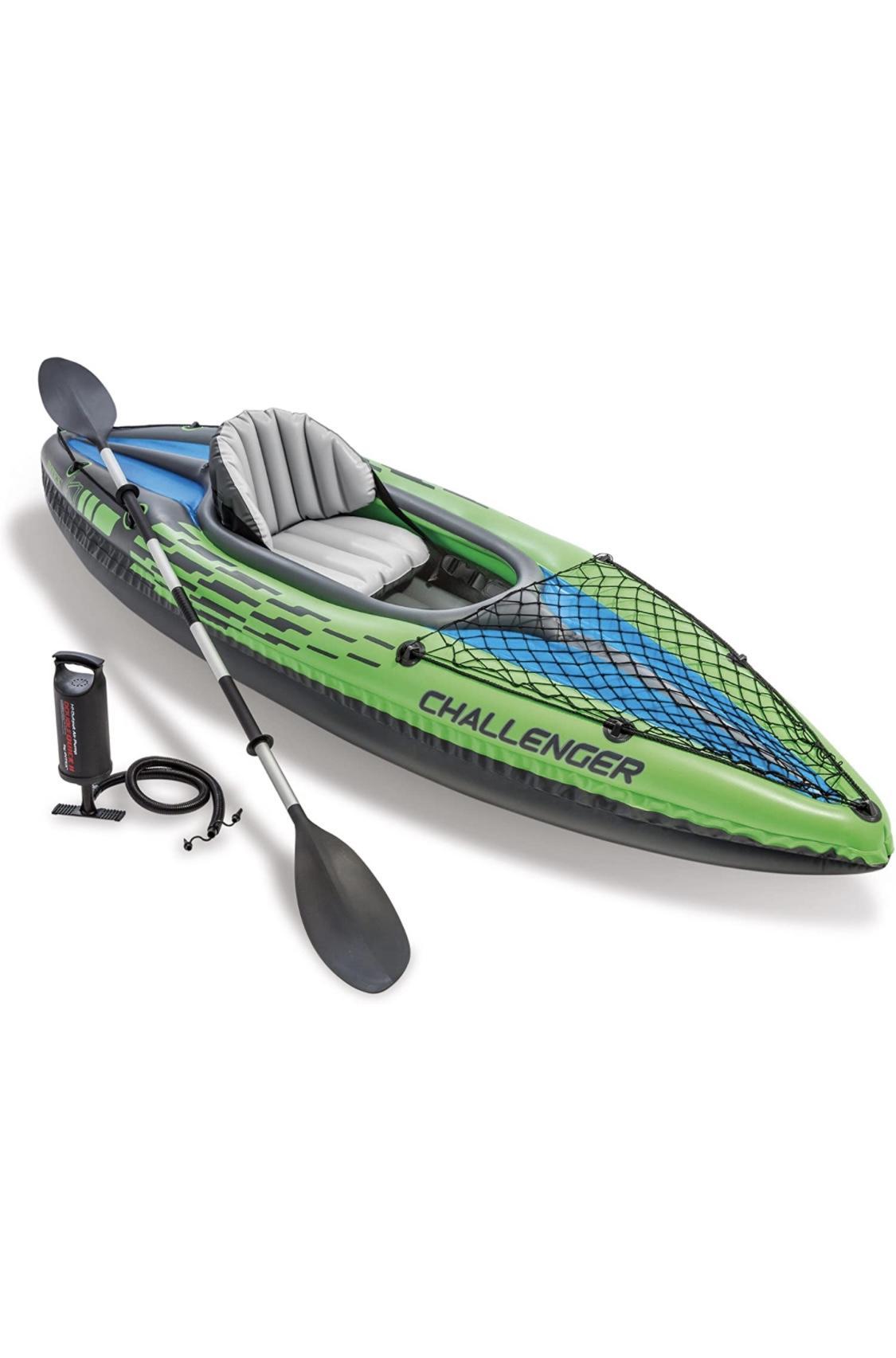 Intex Challenger Kayak Inflatable Set with Aluminu