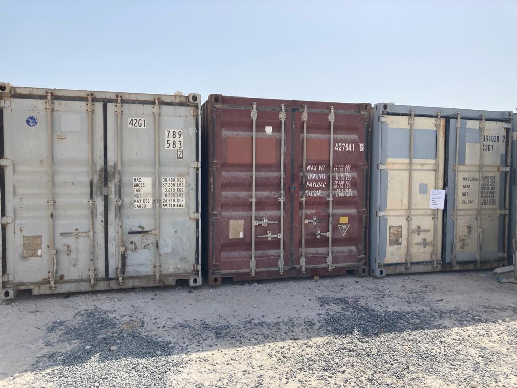 EMPTY CONTAINERS -SALE( SERIOUS BUYERS)