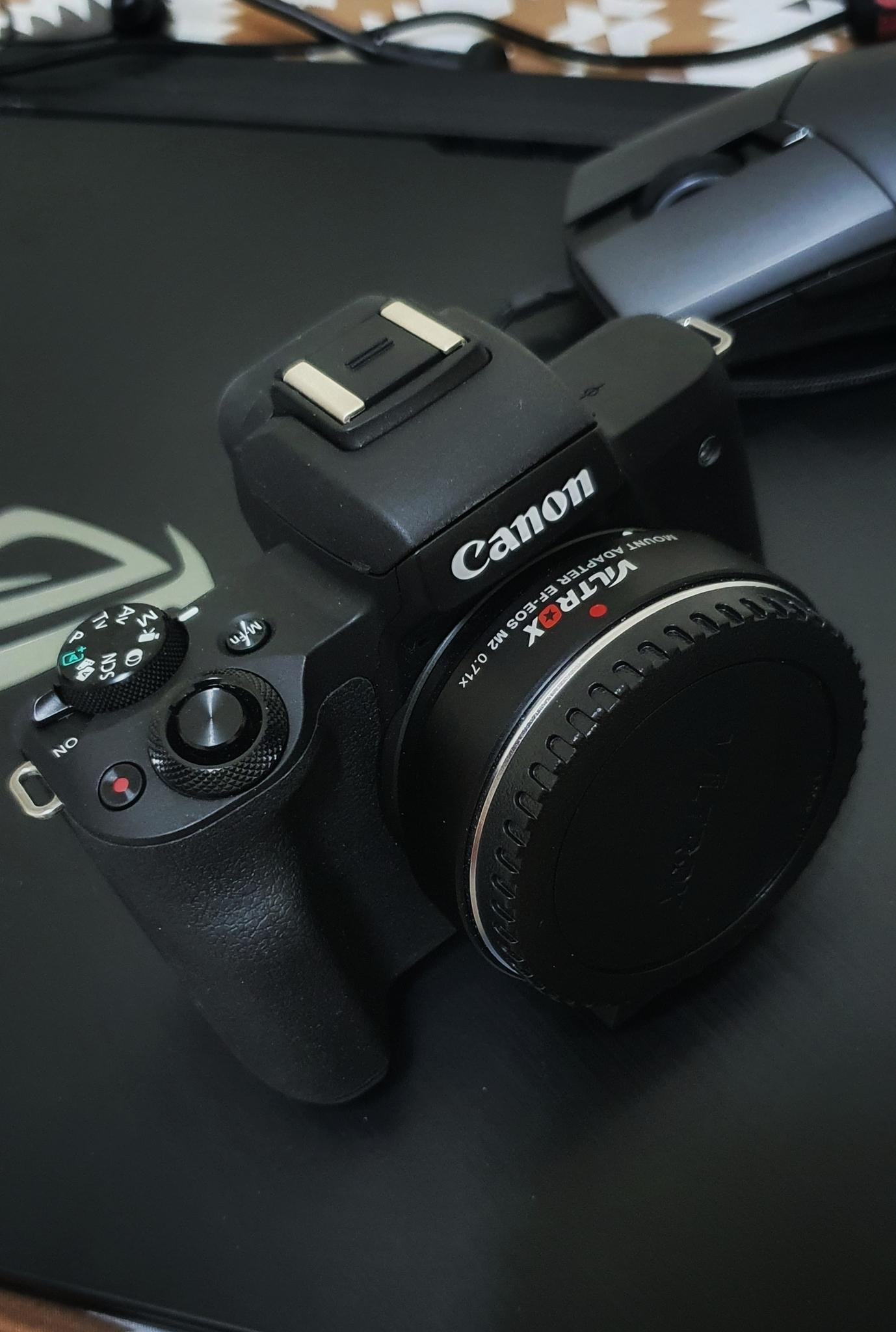 Canon EOS M 50 with Two Lens and its Adaptor(Viltr