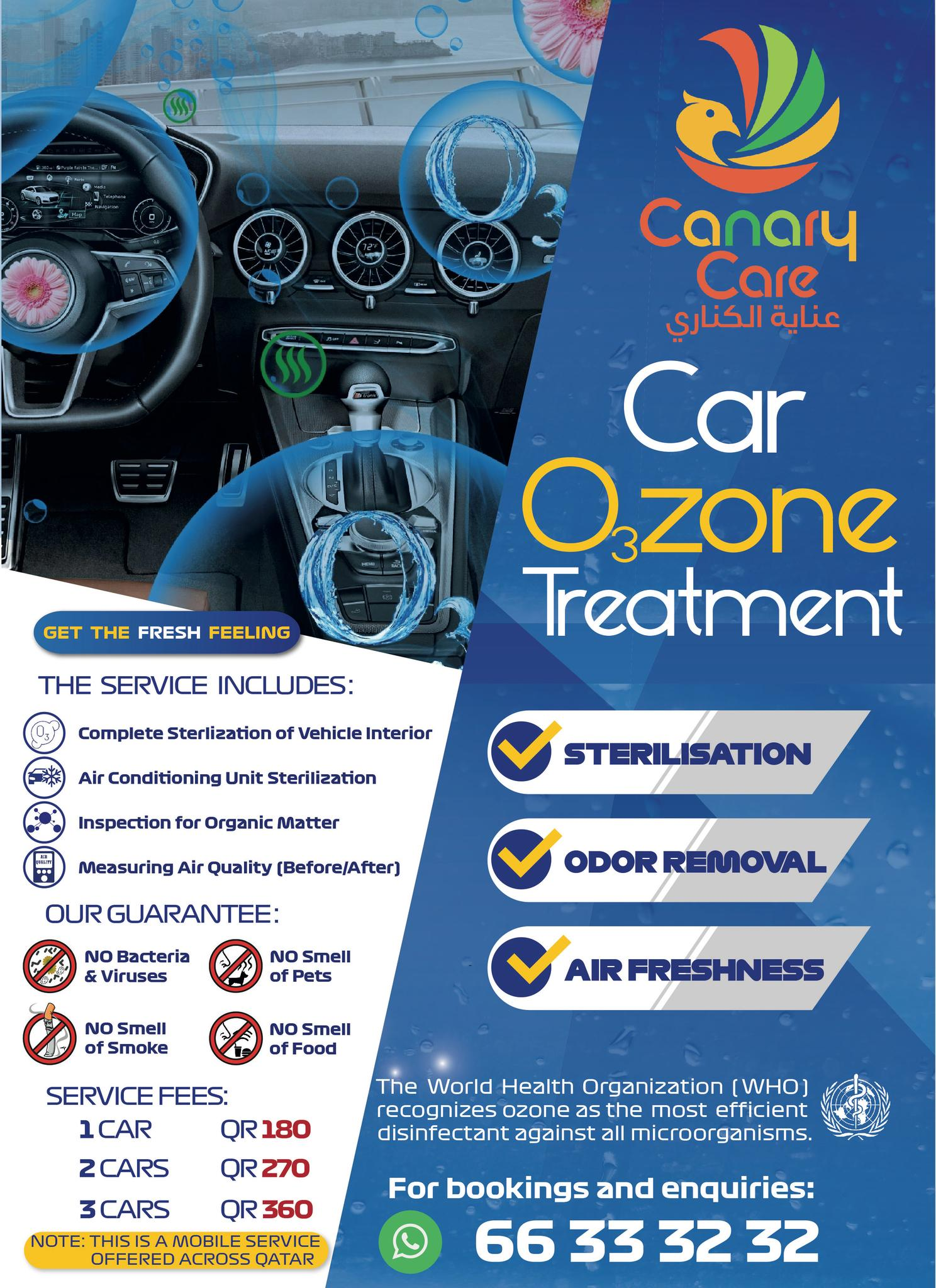 Advanced Vehicle Disinfection Service