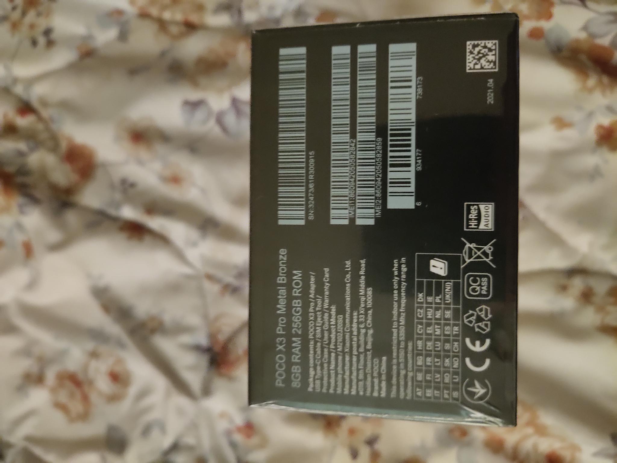 Poco X3 pro 8gb ram 256