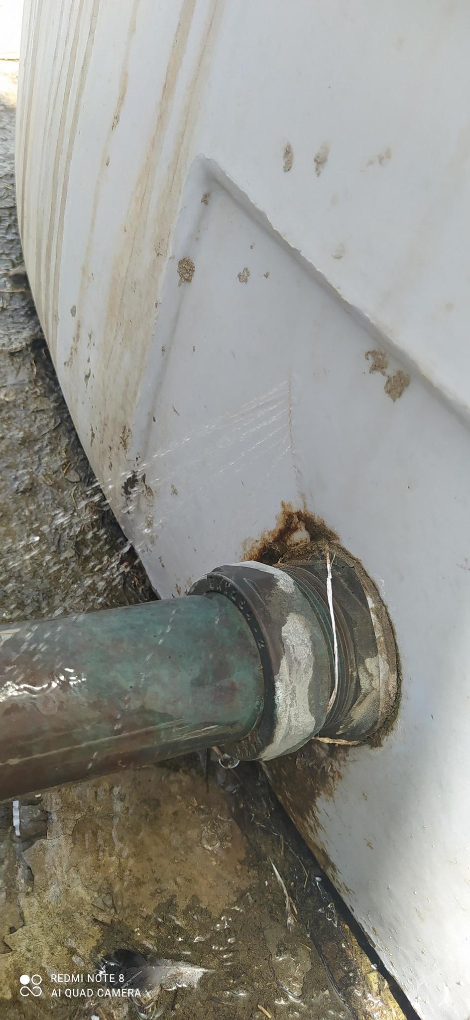 Plastic water tank leak repair. plastic welding.