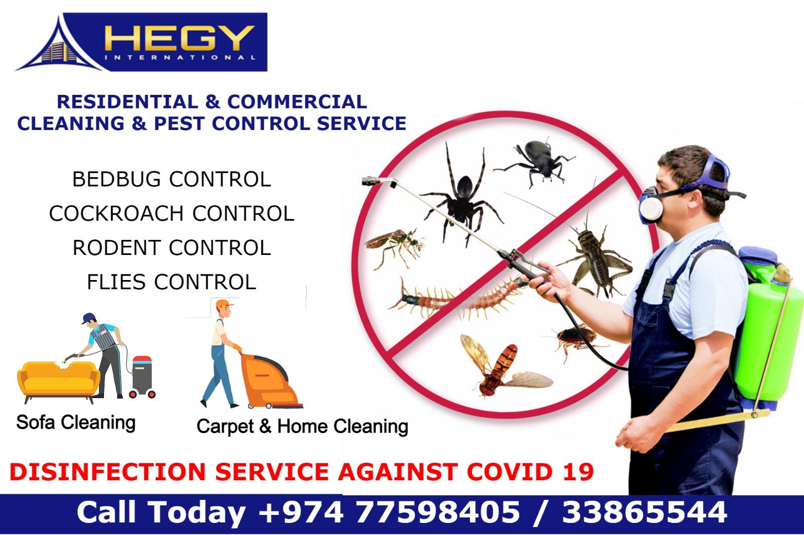 Pest Control - Cleaning Service - Sanitation Servi