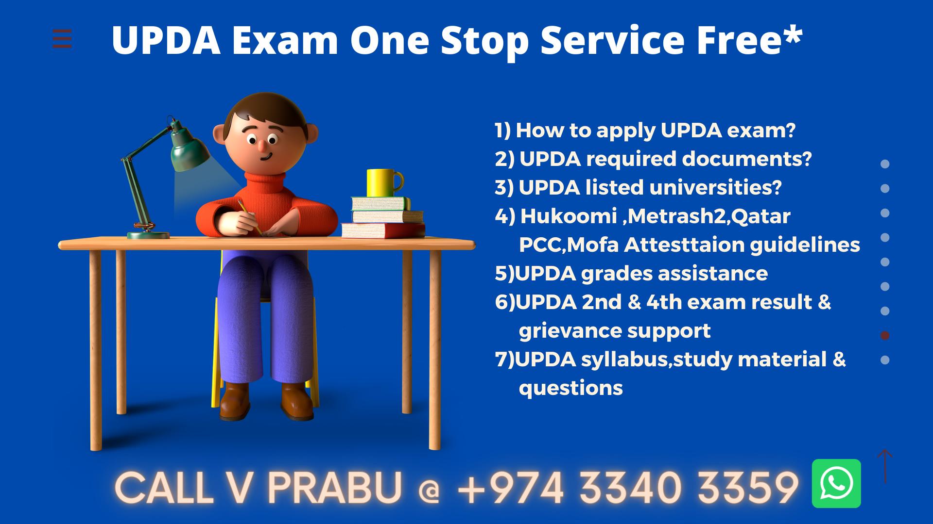 Qatar UPDA Civil Exam Study Material