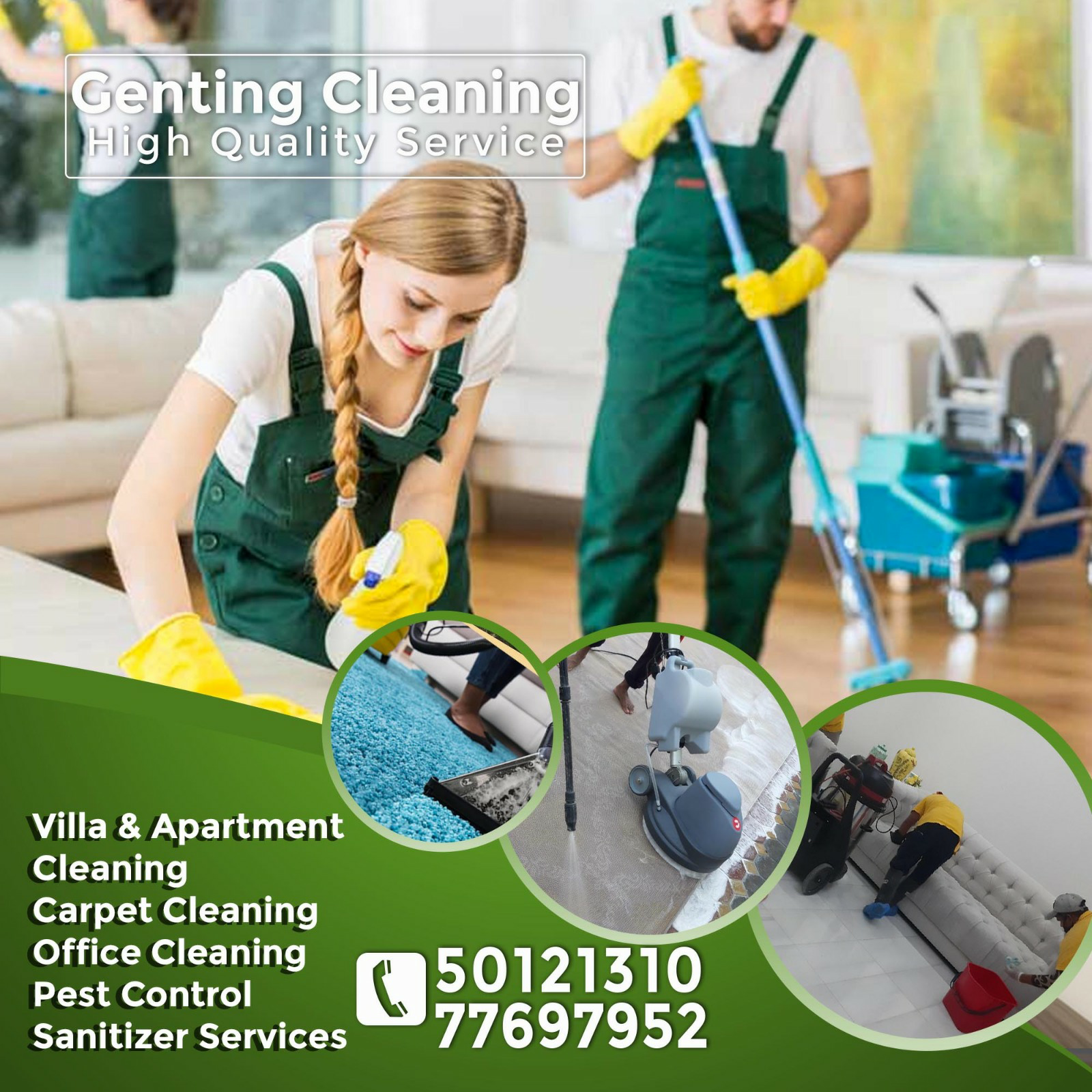 Cleaning, Sanitization, Please call 77697952