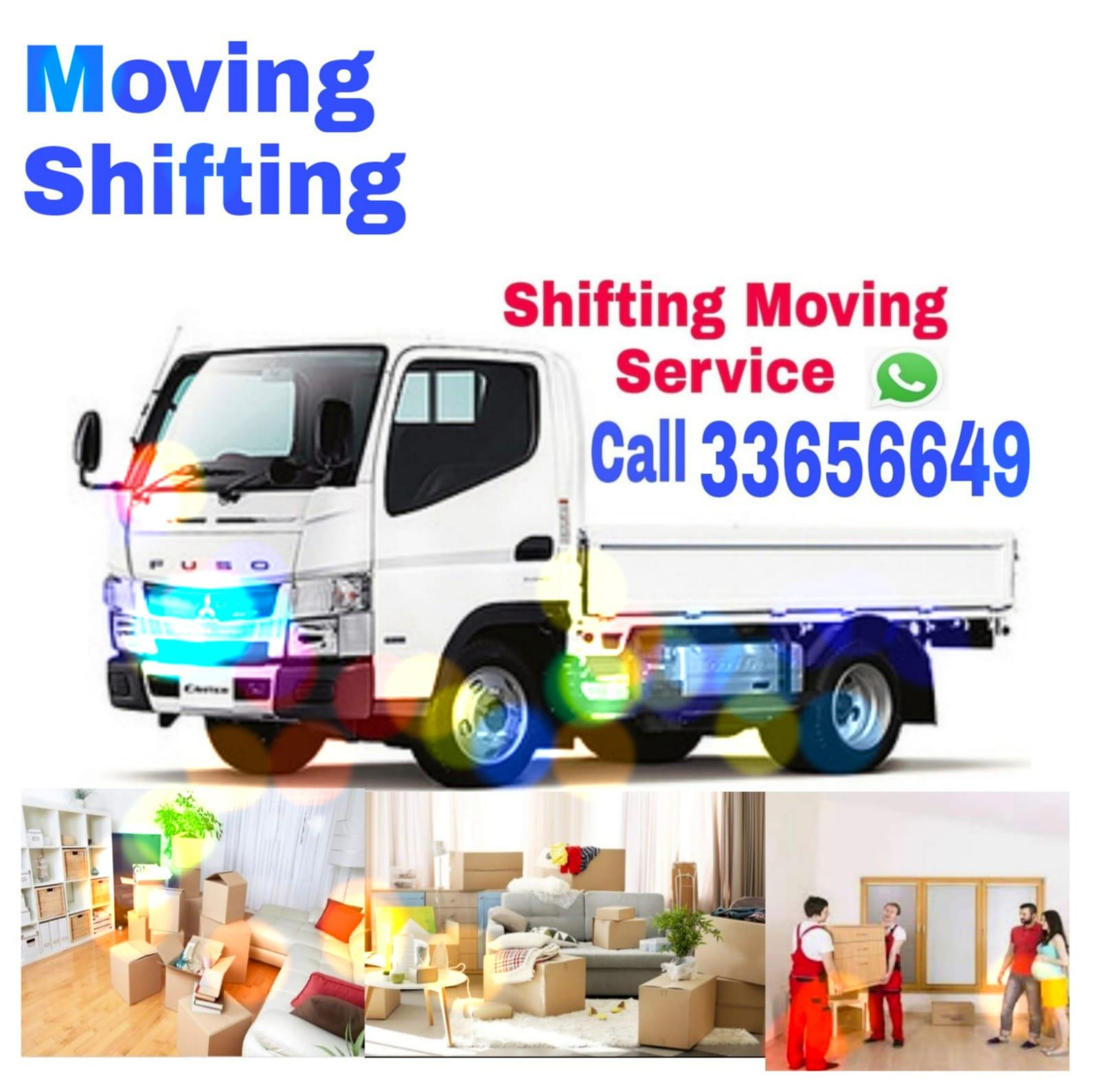 Moving and shifting available for good price. Prof