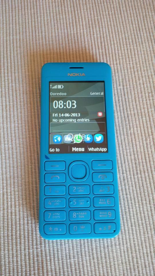 Nokia Asha 206, blue, warranty, with Whatsapp | Qatar Living
