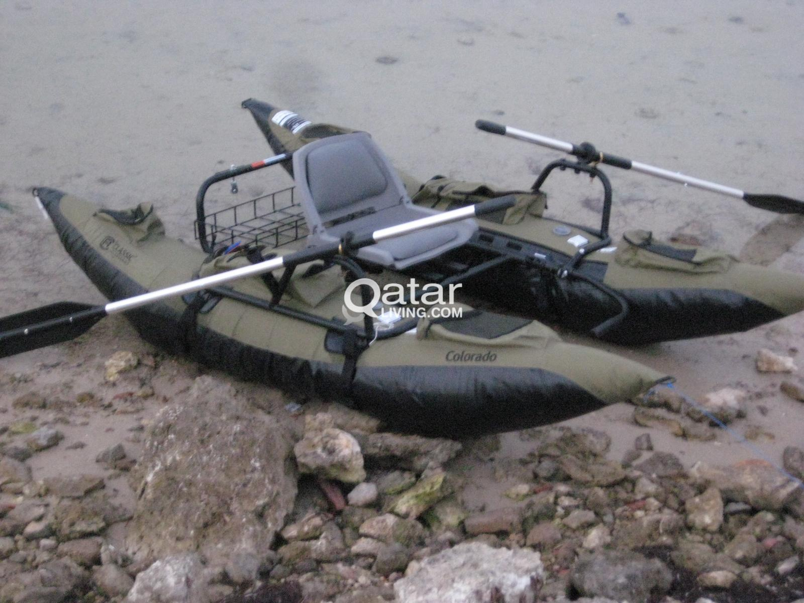 Inflatable Pontoon Boat + Minn Kota® Endura™ C2 55 Trolling Motor