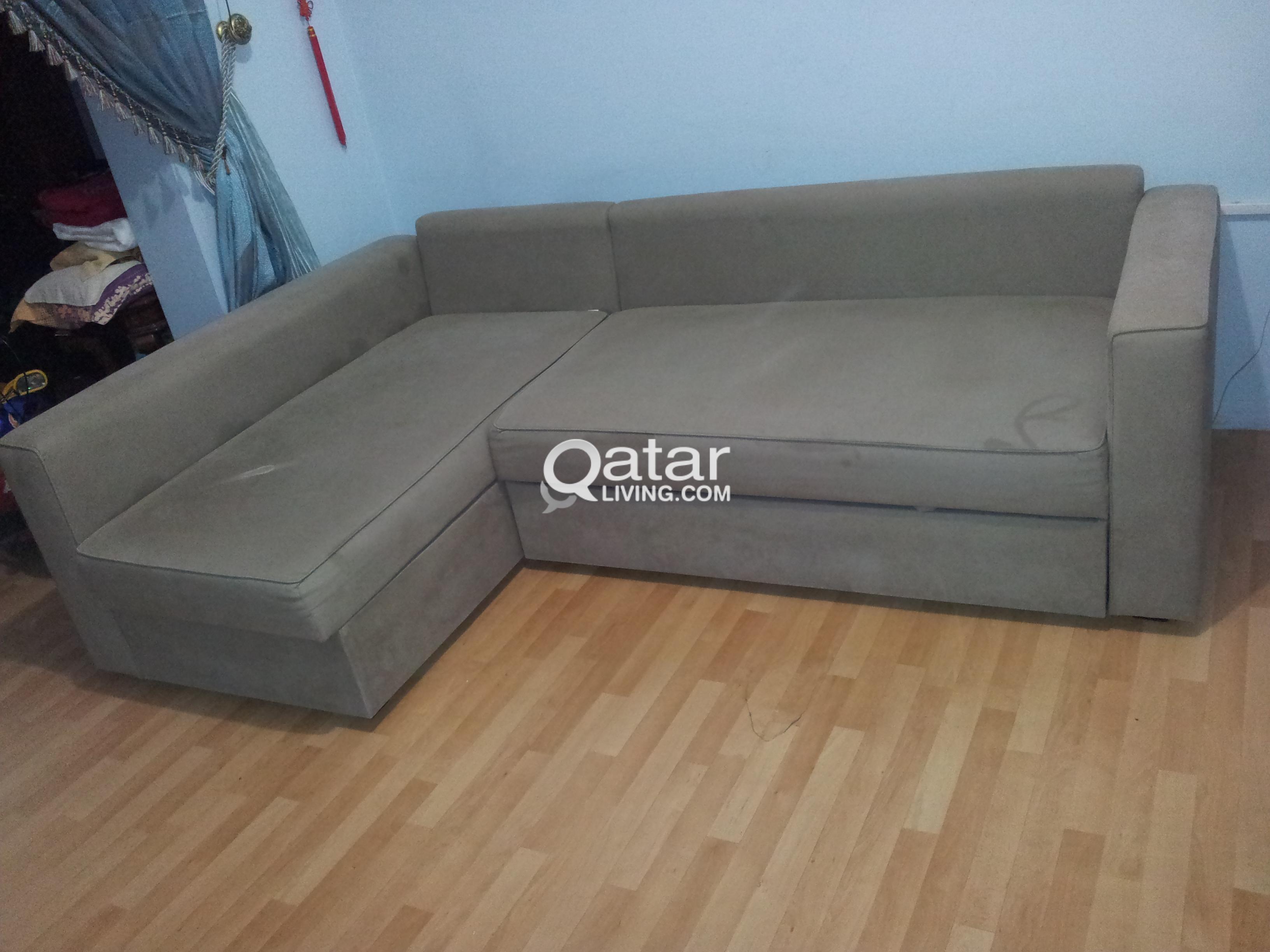 Ikea Brand L Shape Sofa Cum Bed 1 Year Old Qatar Living