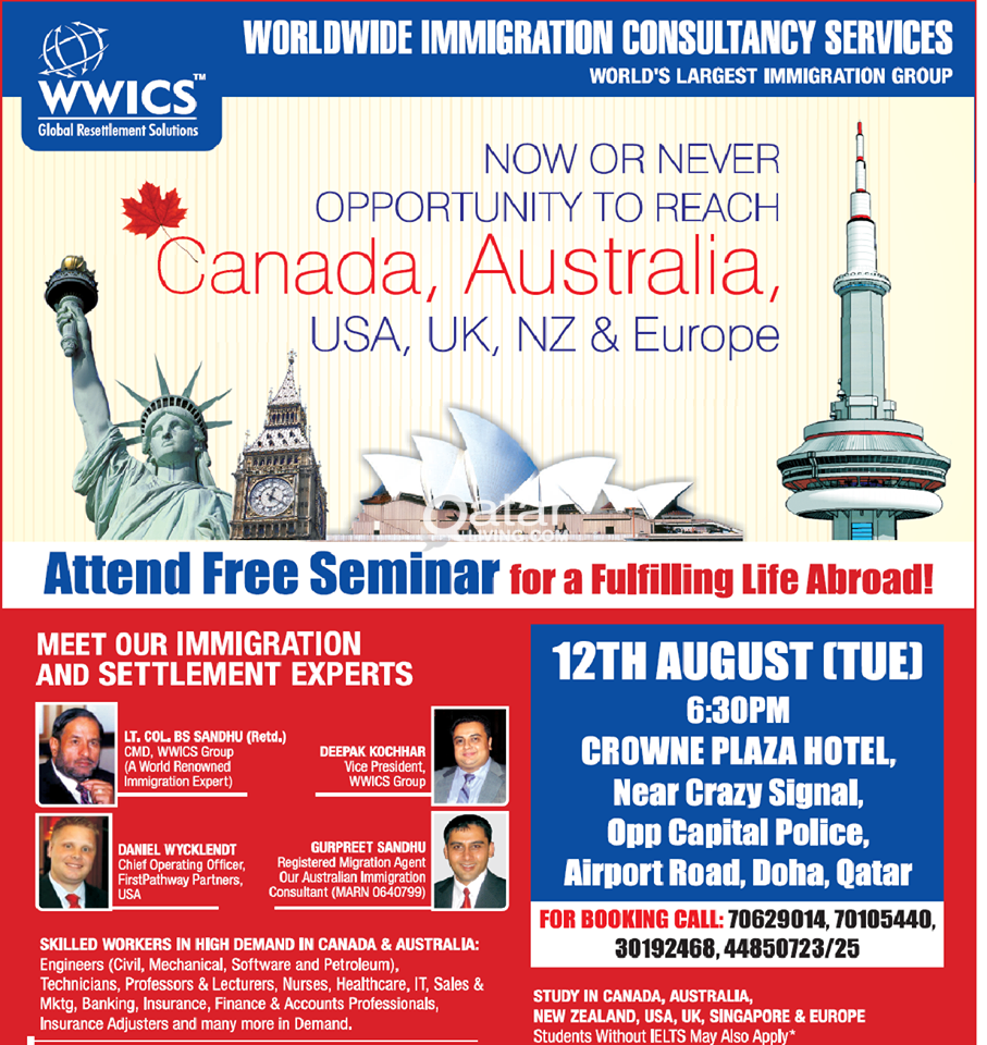 Free Mega Seminar for USA/AUS/CAN and Other Countries