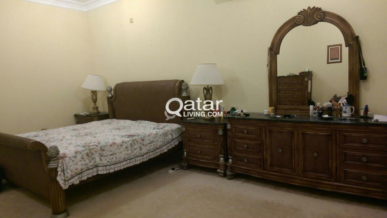 Super King Bedroom Set Bed 2 Side Tables Chest Of Drawers Dressing Table All Marble Tops Qatar Living