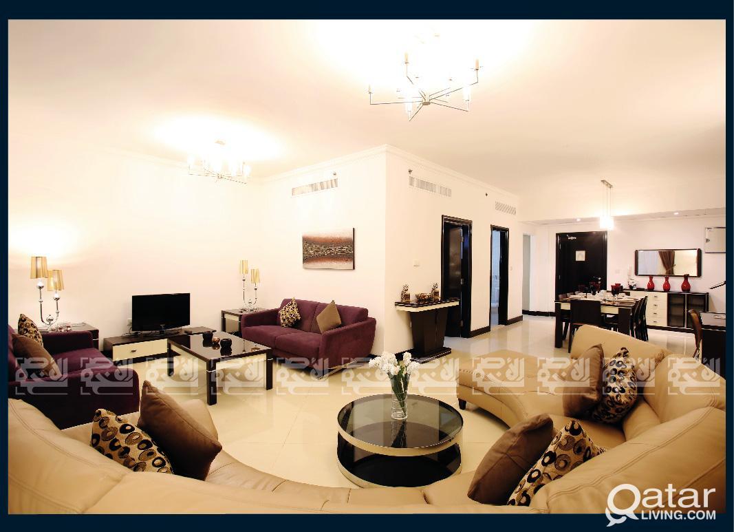 Fully Furnished 3 Bedrooms Apt, West Bay