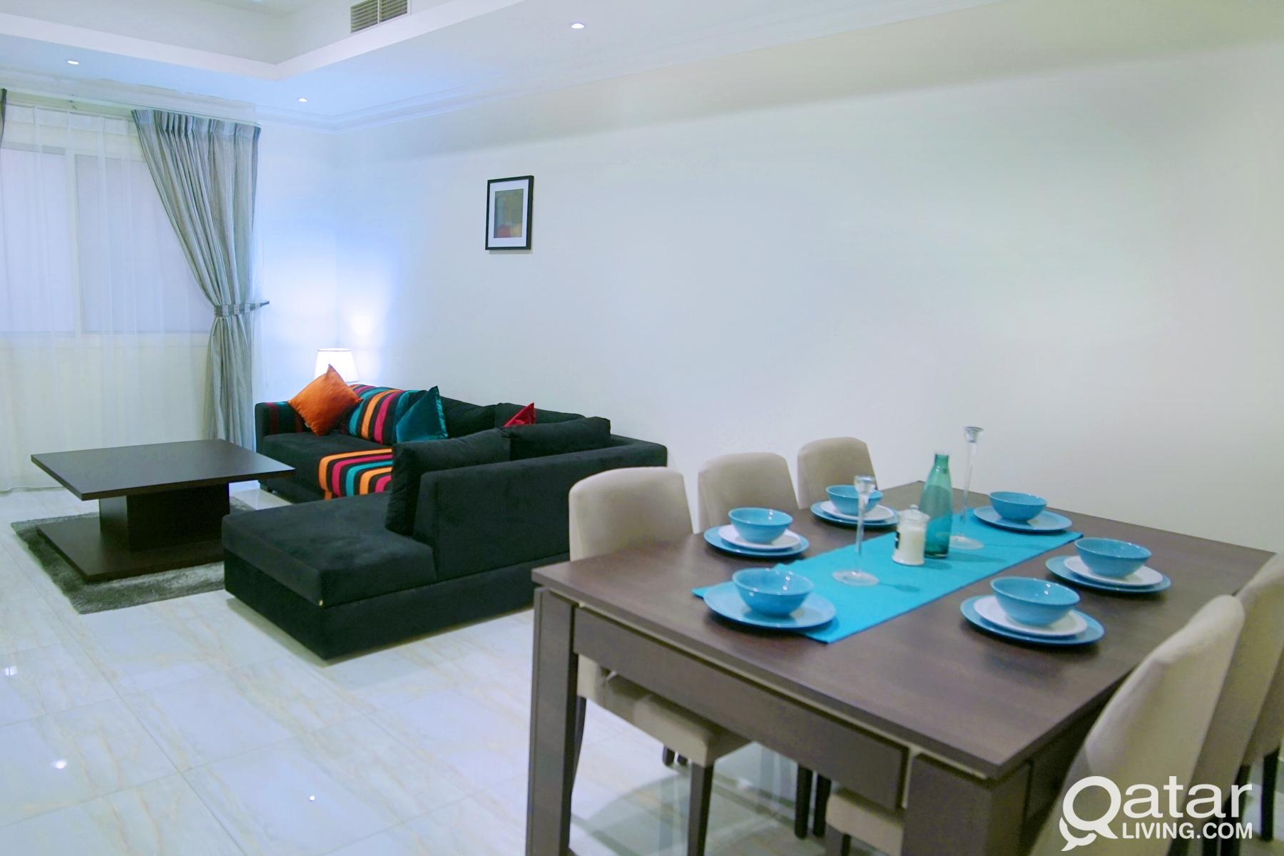 Beautifully Furnished 3 BHK Apartment with No Comm