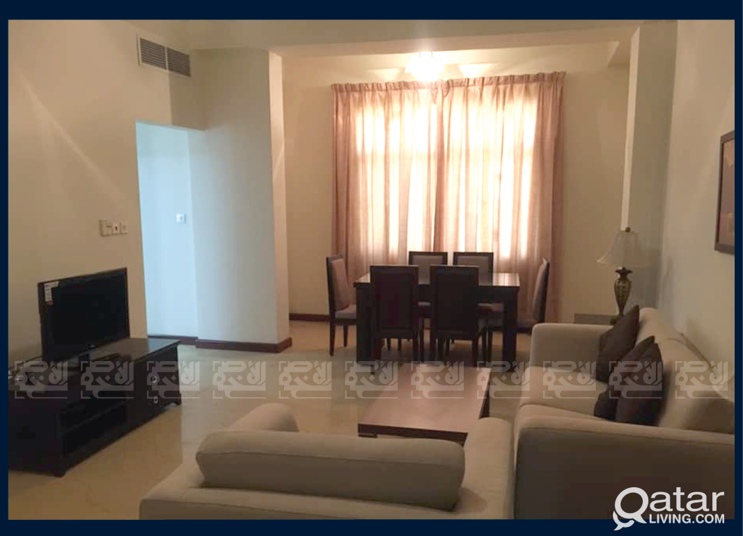Furnished 3 Bedrooms Apartment in Al Sadd