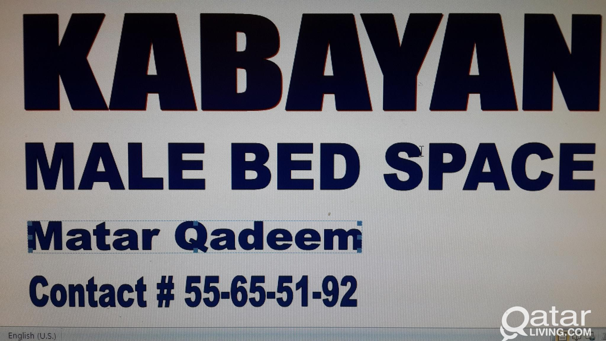 Bedspace for kabayan male