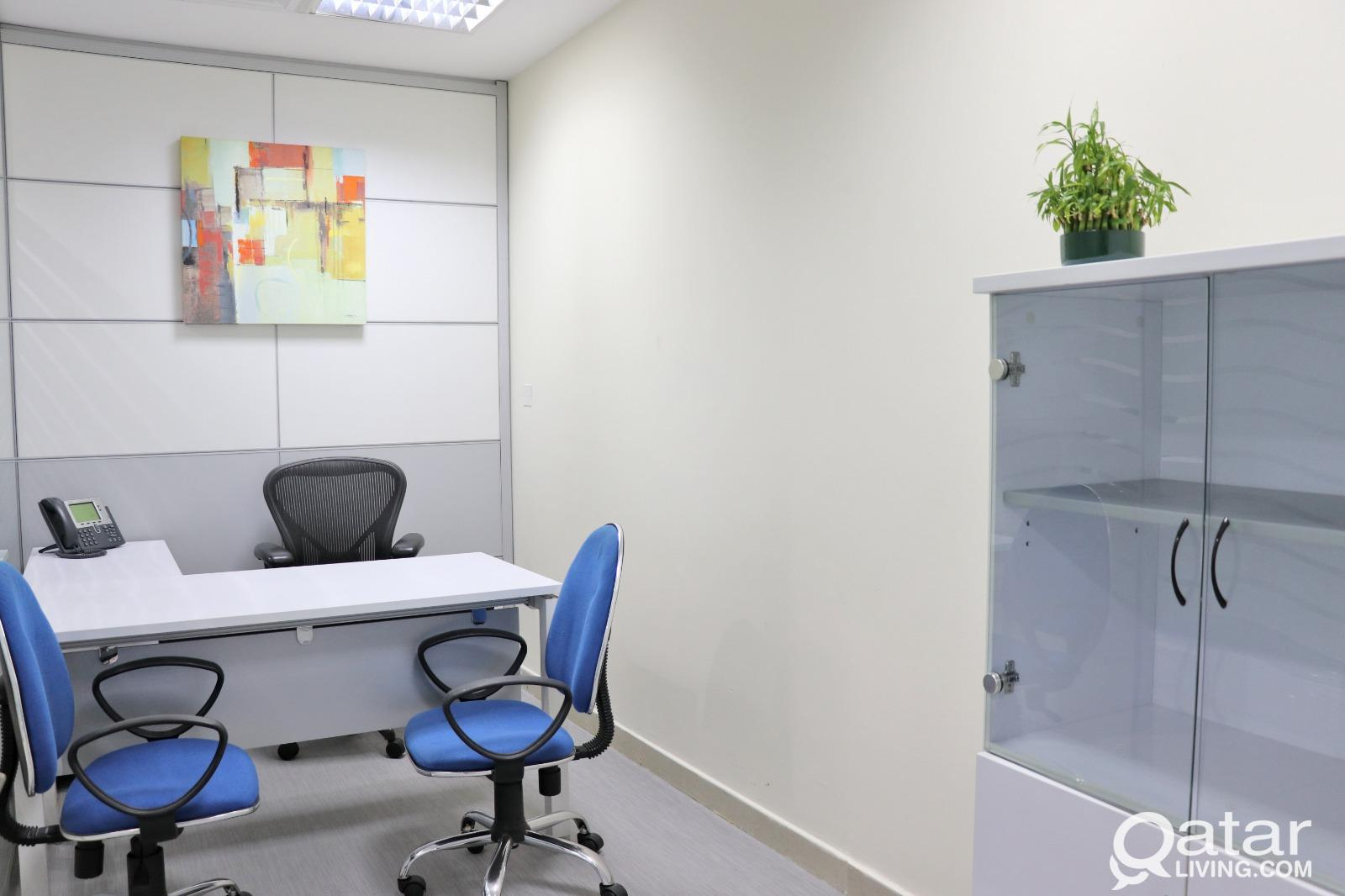 Luxury Private Fully Furnished  offices  with comm