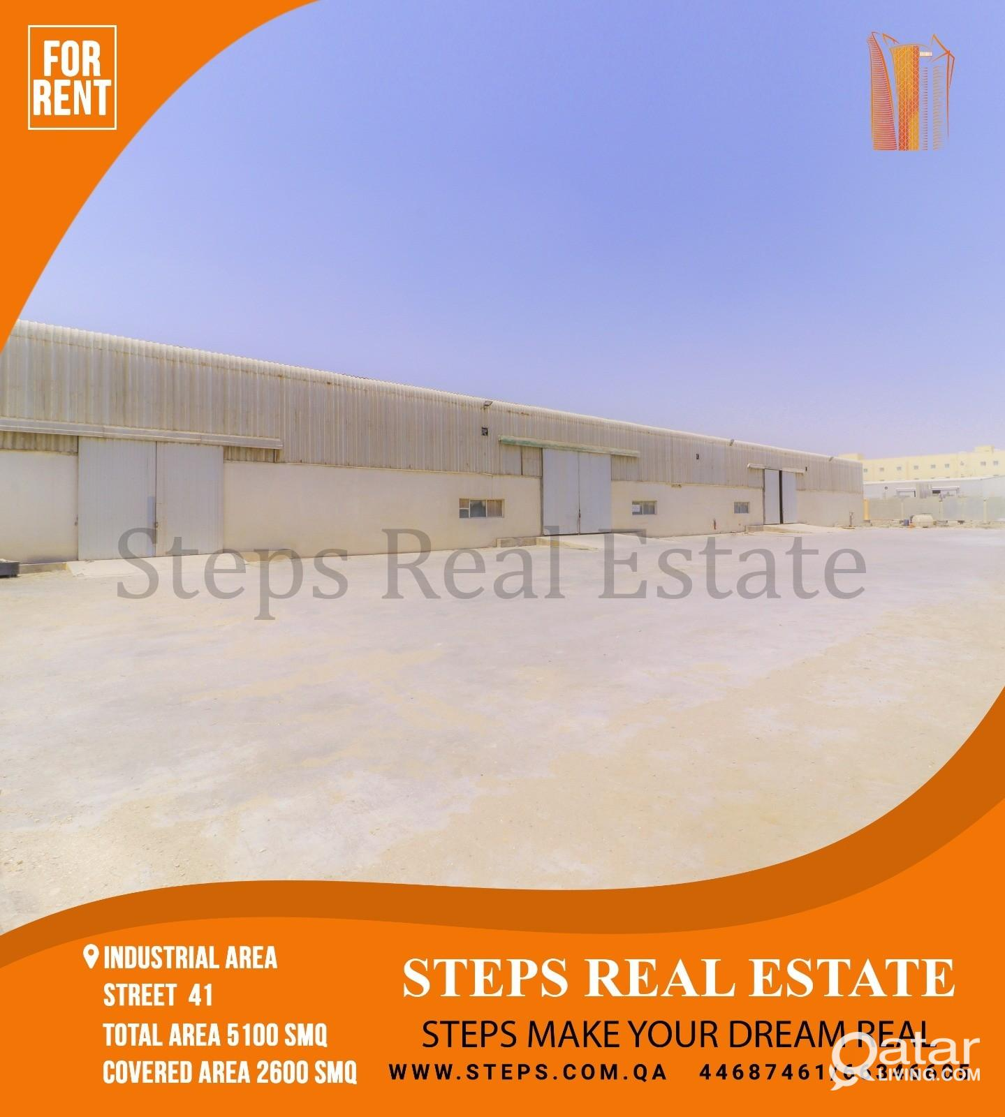 Approved 2600 SQM Store and 2500 Open Yard!