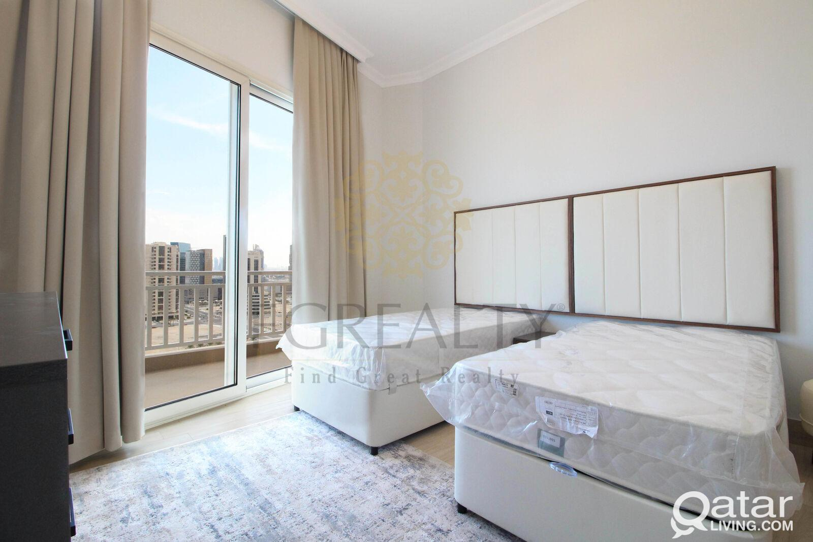 BILLS INCLUDED: Furnished 2BR Apt in Lusail + 2 mo