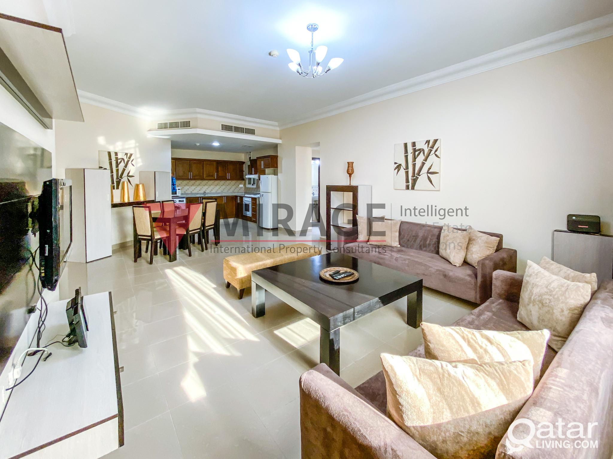 SHORT-TERM Fully Furnished 2-Bed Serviced Apartmen