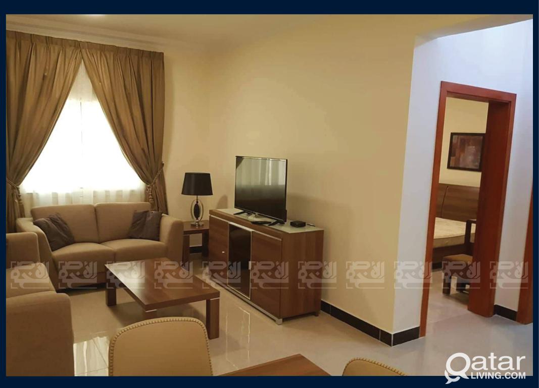 Furnished 1-BDR Apartment in Umm Ghuwailina