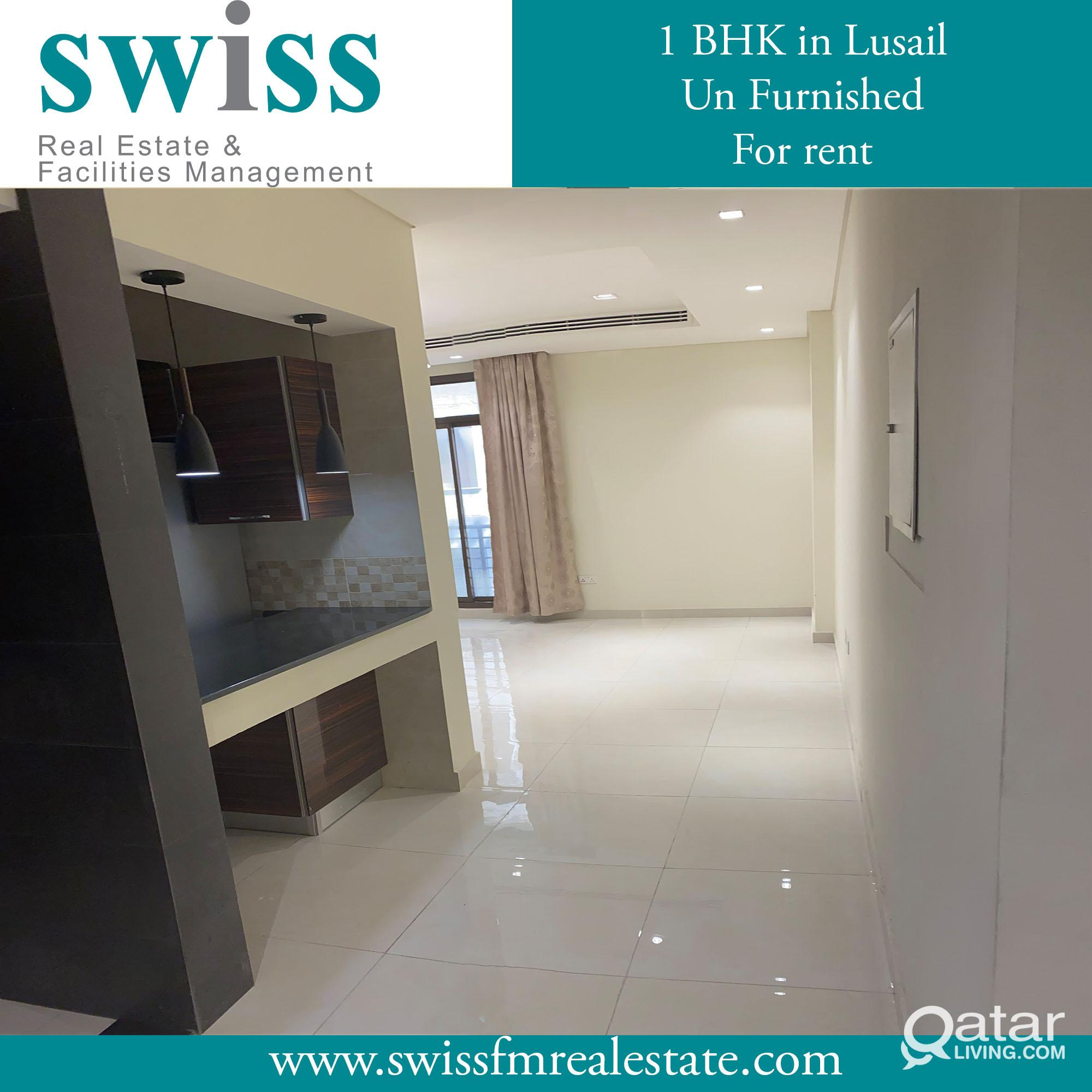 1 BHK unfurnished in Lusail for rent good price