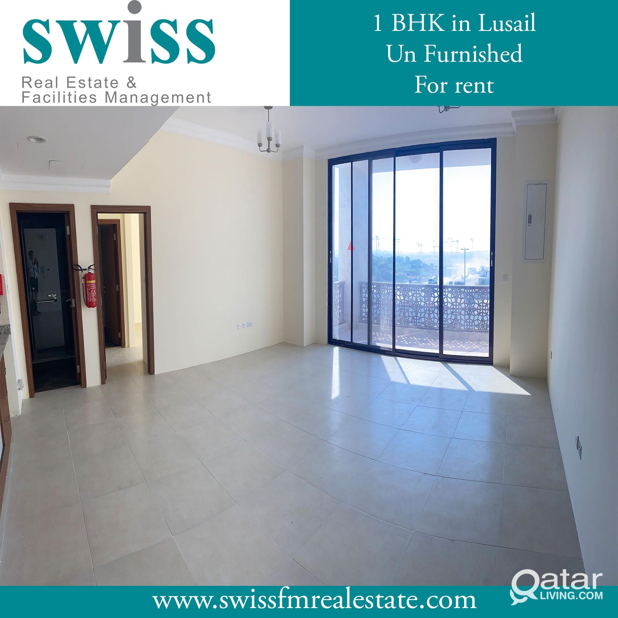 1 BHK unfurnished in Lusail for rent with a  Month