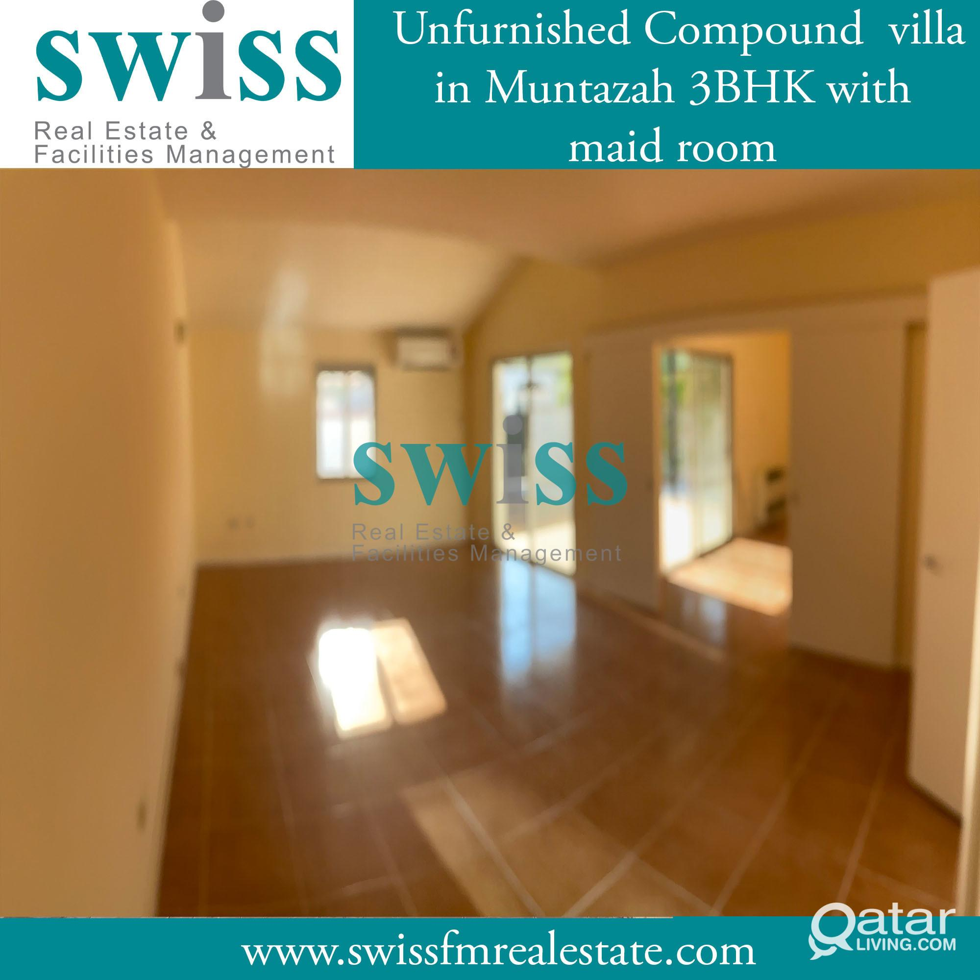 unfurnished villa Al Muntazah 3 BHK with big backy