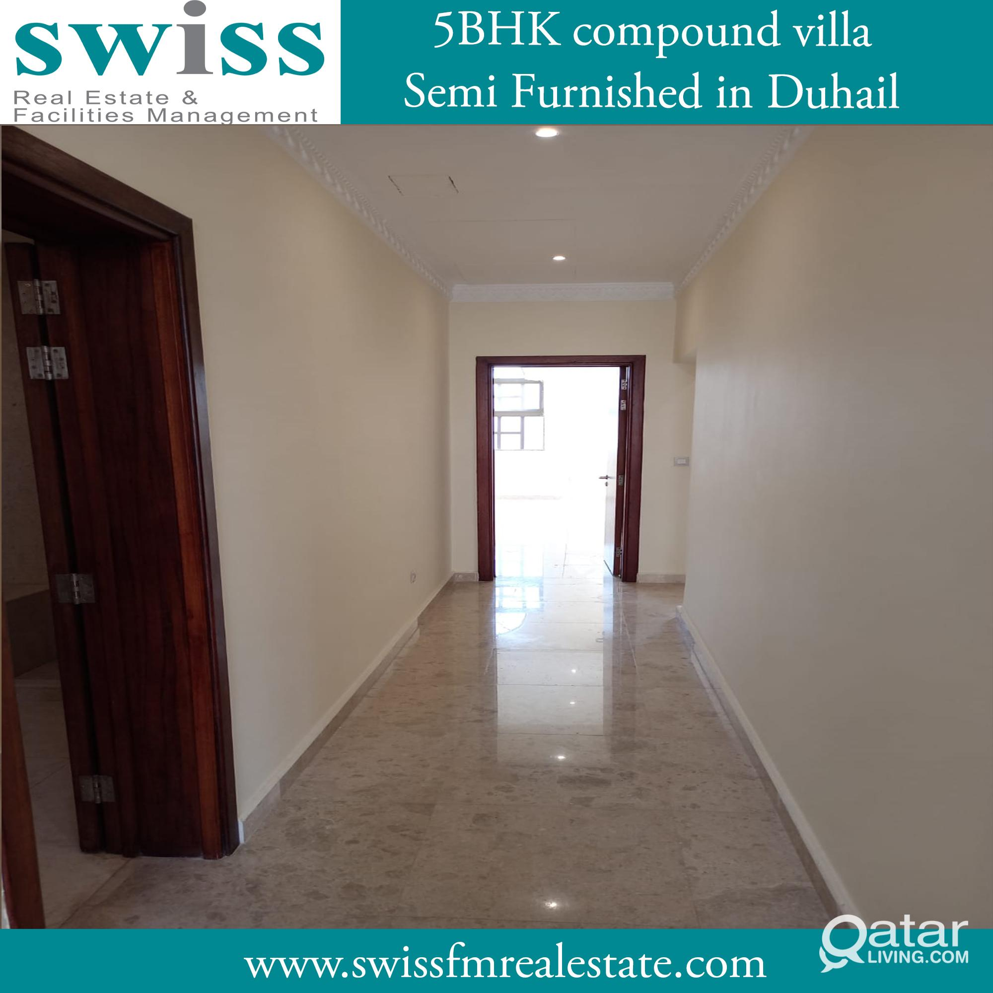 semi furnished 4 Bhk plus room maid