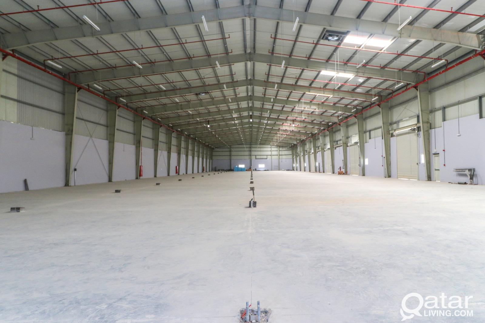 Huge Brand New Warehouse with Civil defense