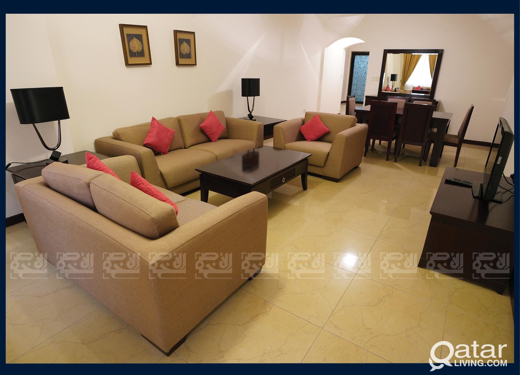Furnished 2-Bedroom Apt for rent, Al Sadd
