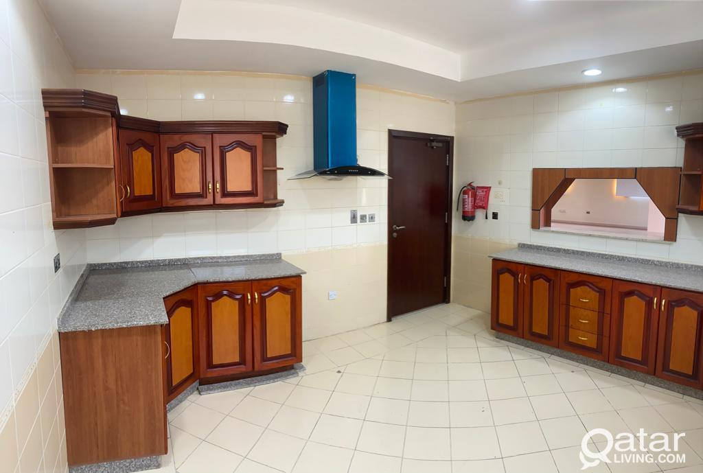 Un Furnished ,  (4)  bedroom villa + maid room