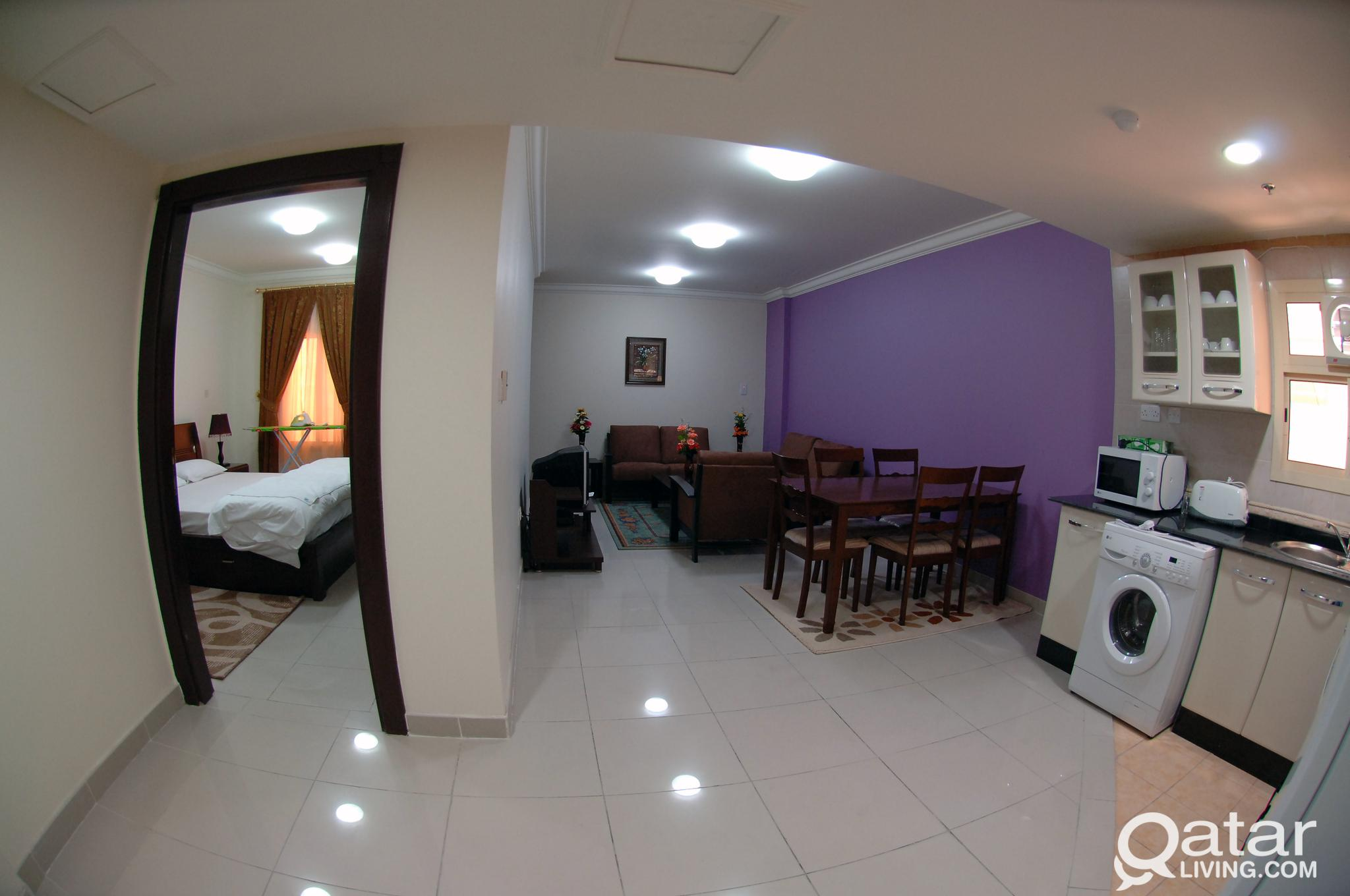 1BHK  BEAUTIFUL FULLY FURNISHED APARTMENTS NEAR L