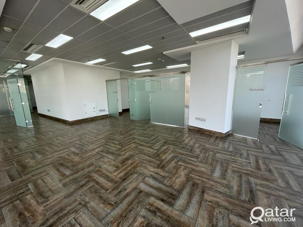 Glass Partitioned Office spaces starting 85sqm @ 7