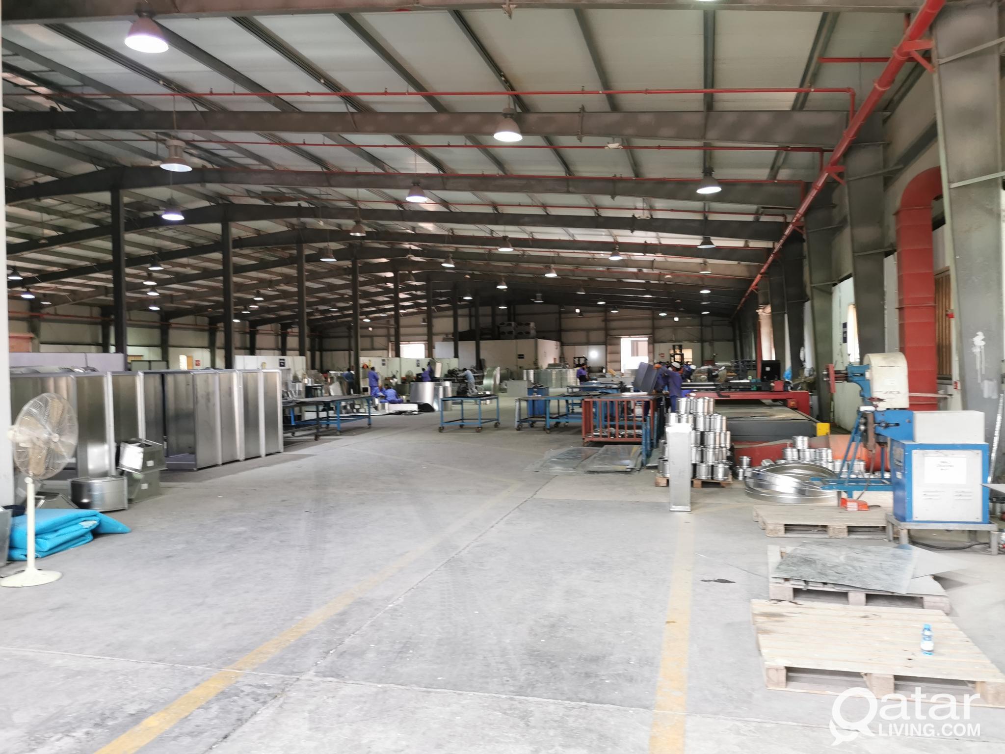 7000.Sqm HVAC ALUMINUM & STEEL FACTORY FOR RENT IN