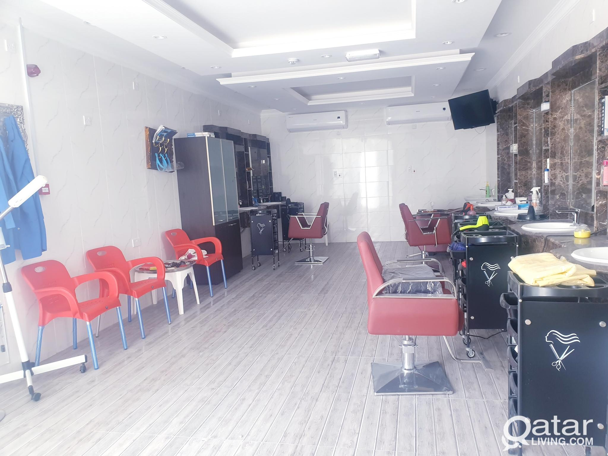 Brand new Gents saloon with fully occupied In New