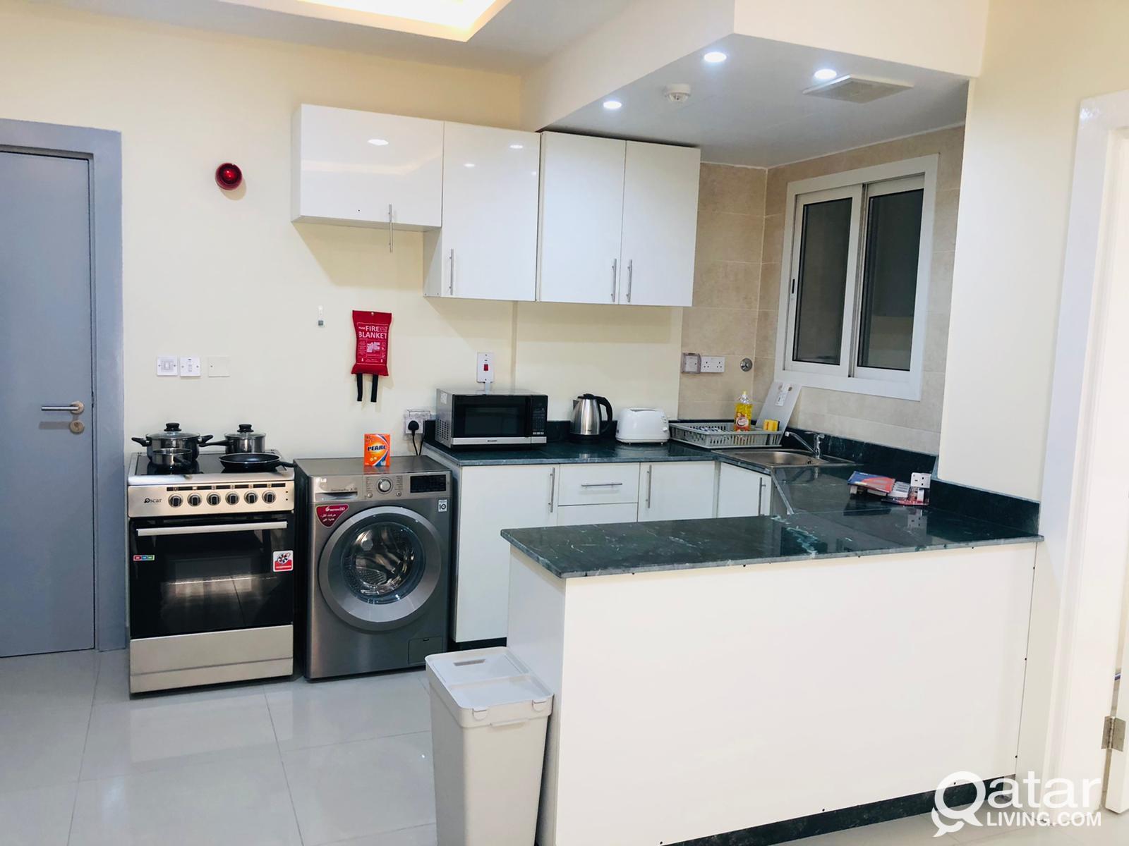 Brand New 1 BHK Apartment in Musherib near Metro S