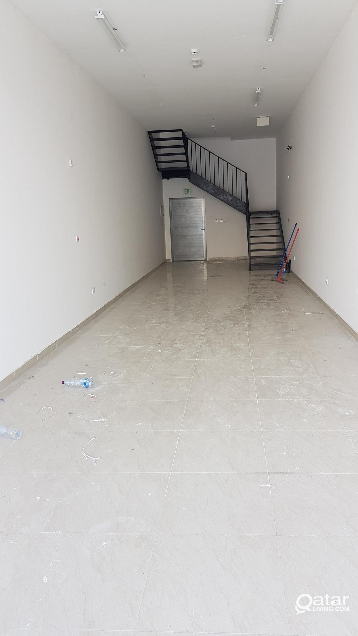 Shop for rent at azizya 17×3.7 m mezzanine 20000 q