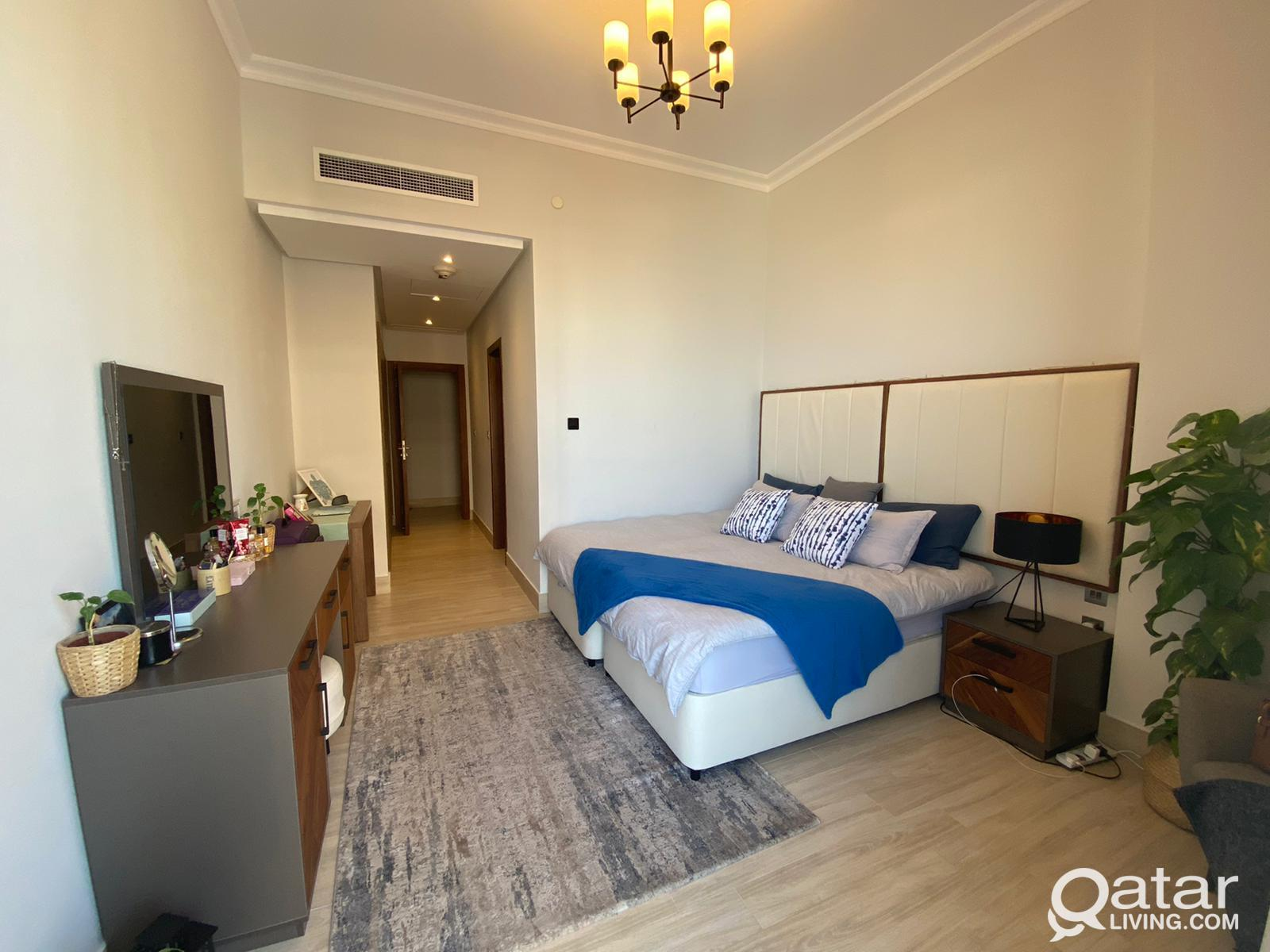 Fully Furnished Master Bedroom on Lusail Marina