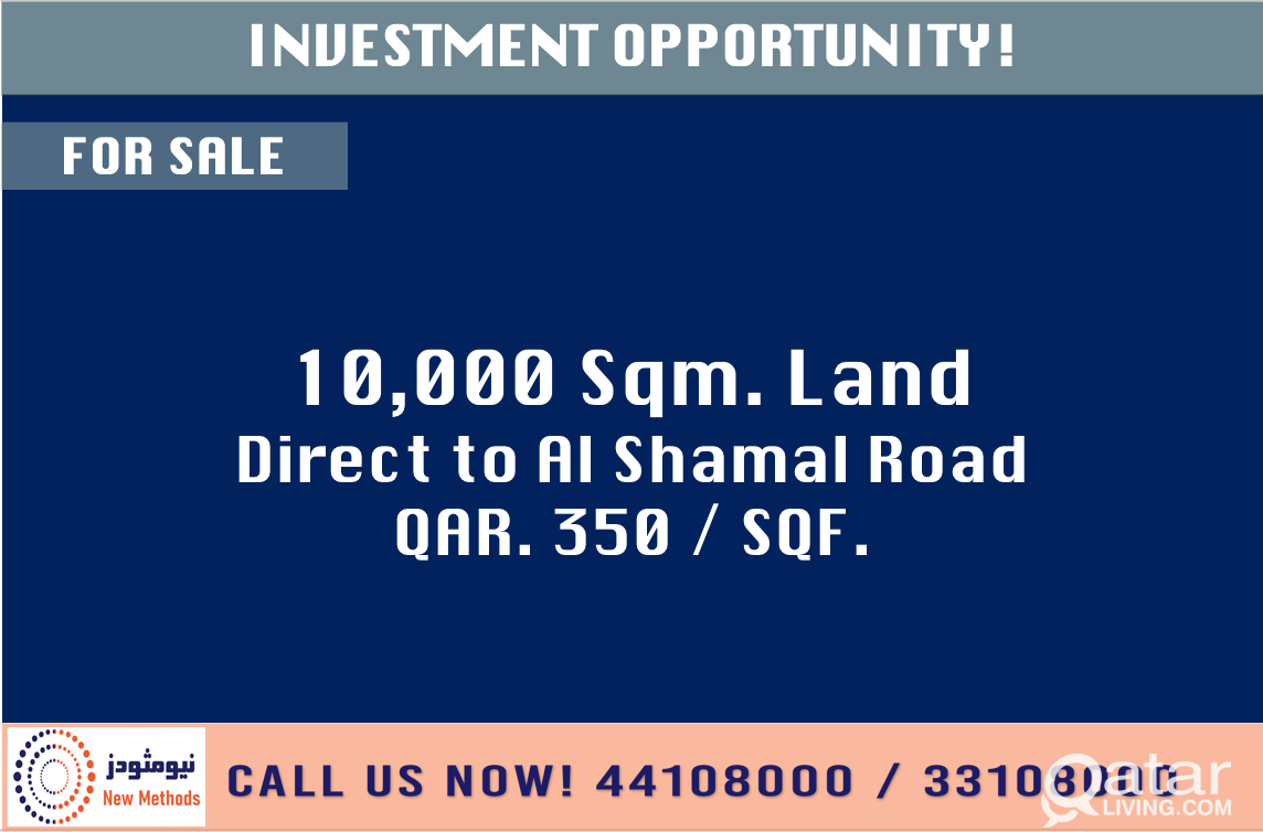 INVESTMENT OPPORTUNITY LAND AT AL SHAMAL ROAD - FO